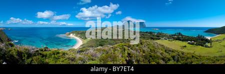 Vue sur l'île Lord Howe Banque D'Images