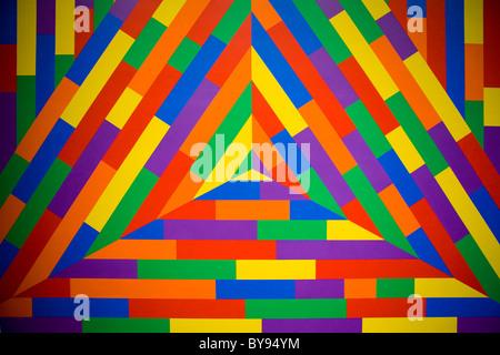 """Mur #1113' - Sol LeWitt, 2003 Banque D'Images"