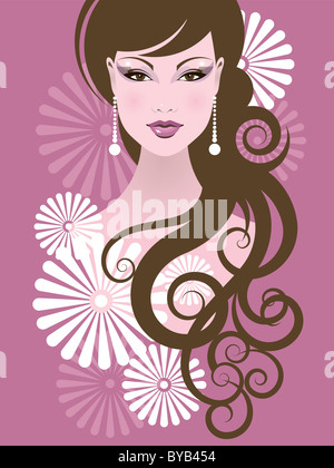 Une illustration d'une femme Banque D'Images