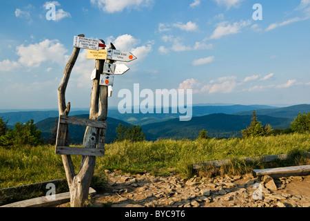 Panneau de sentier Banque D'Images