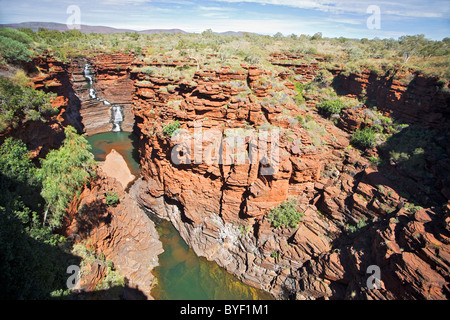 Joffre Gorge, parc national de Karijini, Australie occidentale Banque D'Images
