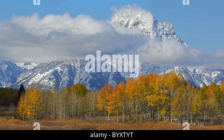 Grand Tetons en automne. Banque D'Images