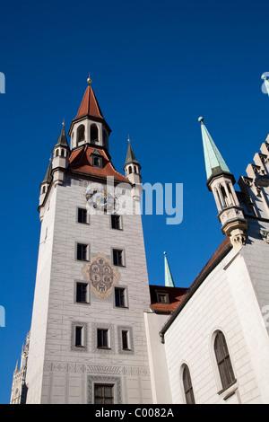 Spielzeugmuseum, Old Town Hall, Marienplatz, Munich, Bavière, Allemagne Banque D'Images