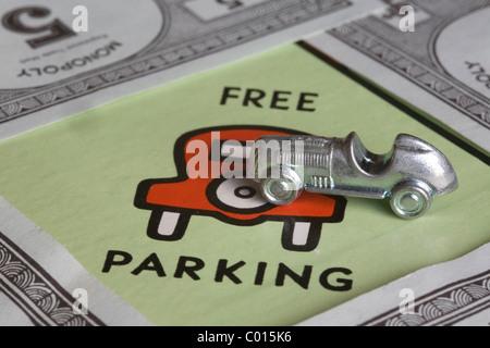 Parking gratuit sur le jeu de monopoly
