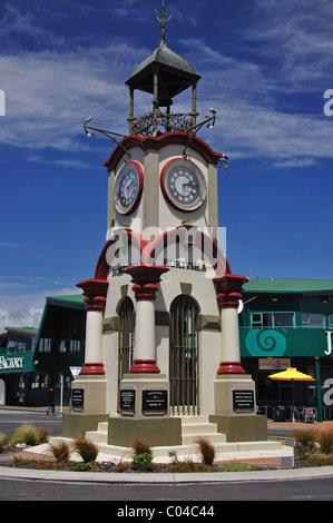 Hokitika Memorial Clocktower, Weld Street, Hokitika, Westland District, Région de la côte ouest, île du Sud, Nouvelle-Zélande