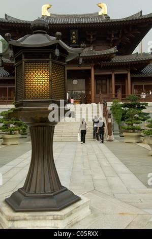 La Chine, Hong Kong, de nouveaux territoires. Chi Lin Nunnery. Banque D'Images