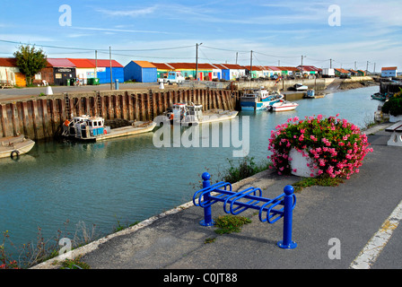 Port de Saint Trojan en France sur l'île d'Oléron. Département Charente Maritime. La région Poitou-Charentes Banque D'Images