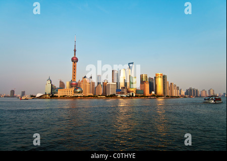 L'horizon de Pudong, Shanghai, Chine Banque D'Images