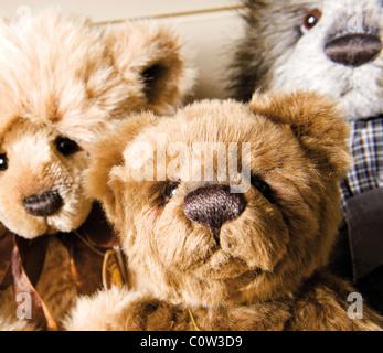 Mignon ours en peluche jouet traditionnel Banque D'Images