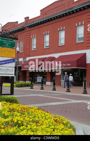 Floride, FL, Sud, Seminole County, Orlando, Sanford, First 1st Street, rénové, restauré, quartier historique du Banque D'Images