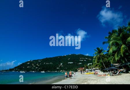 Cane Garden Bay, sur l'île de Tortola, British Virgin Islands, Caribbean Banque D'Images