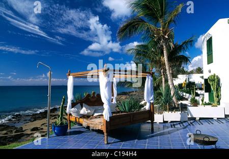 La Ola Club de plage à Puerto del Carmen, Lanzarote, Canary Islands, Spain, Europe