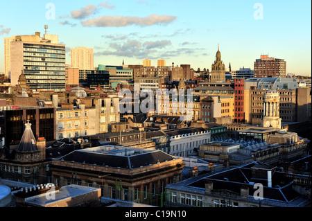 Une vue sur le centre-ville de Glasgow prises à l'automne lumière du soir Banque D'Images