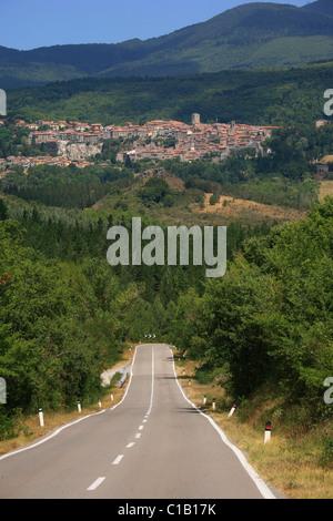 Santa Fiora, Grosseto, Toscane, Italie, Europe Banque D'Images