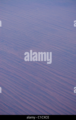 Dans l'air au-dessus de la Simpson Desert, Centre de l'Australie Banque D'Images