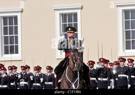 La dernière répétition de la parade des souverains de Sandhurst. Toutes les soudures sur le défilé sera venir officiers Banque D'Images