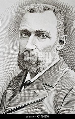 Pierre Curie (1859-1906). Physicien français. Banque D'Images
