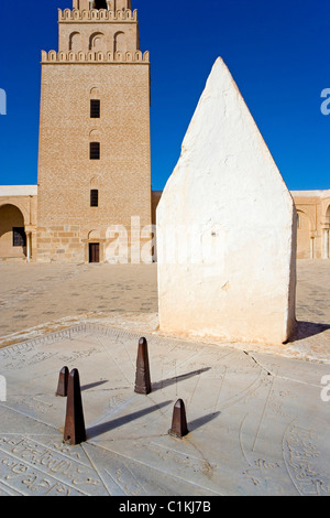 Tunisie Kairouan ville sainte inscrite au Patrimoine Mondial de l'UNESCO La Grande Mosquée fondée par Sidi Uqba Banque D'Images