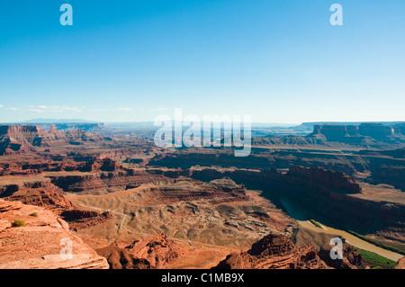 Vues des Montagnes La Sal,Plateau du Colorado,Rivière, 6000 pieds au-dessus du niveau de la mer, lacs de sel,géologique,Dead Banque D'Images