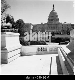 L'Amérique, années 50, vue sur le Capitole, à Washington DC, à la maison pour le gouvernement américain.