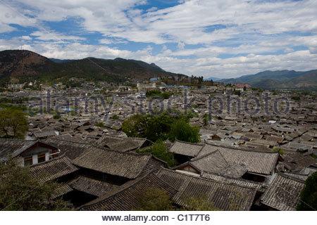 Vieille ville de Lijiang, Yunnan, Chine Banque D'Images