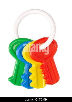 Touches de jouet de bébé Banque D'Images
