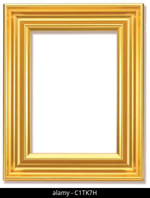 Or une photo frame isolated with clipping path Banque D'Images