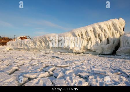 Expédier congelé. lac Baikal, Sibérie, Russie, l'île Olkhon