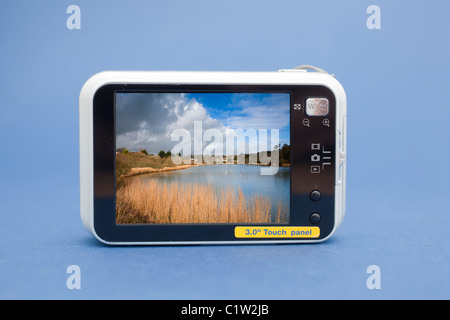 L'écran de visualisation sur le dos d'un appareil photo numérique compact Banque D'Images