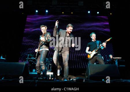 Duran Duran fonctionne à l'Ultra Music Festival à Miami, Floride, USA prises le 25 mars 2011. Banque D'Images