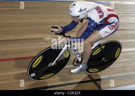 Sarah Hammer USA us nord-américain poursuite individuelle aux championnats du monde de cyclisme sur piste aux Jeux Banque D'Images