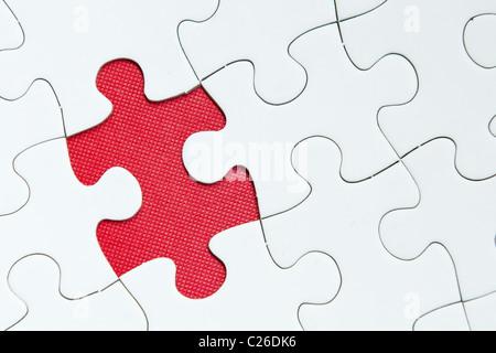 Une pièce de puzzle est manquant Banque D'Images