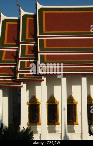Vue du temple de Wat Ratchanatdaram à Bangkok, Thaïlande Banque D'Images