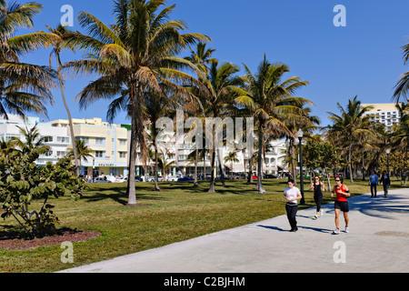Lummus Park, South Beach, Miami Banque D'Images
