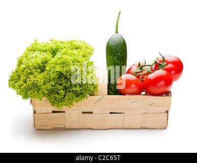 Légumes juteux de Punnett sur fond blanc Banque D'Images