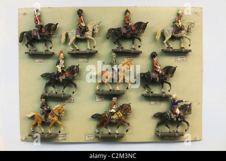 Soldat de plomb chiffres au musée du jouet à Prague République Tchèque Banque D'Images