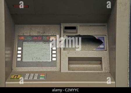 Distributeur automatique de vandalisme Banque D'Images
