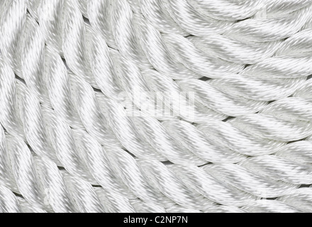 Close-up of a white rope Banque D'Images