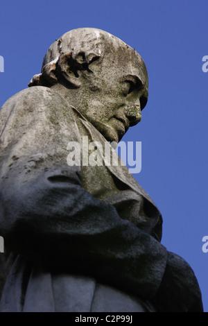 Statue de James Watt dans Chamberlain Square, Birmingham, Angleterre, RU Banque D'Images