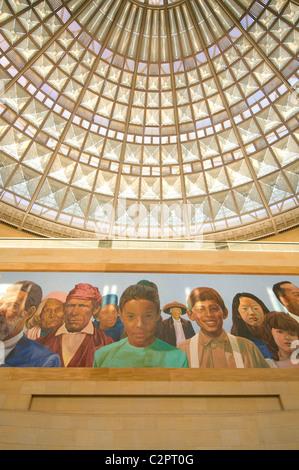 Peinture murale à la gare Union au centre-ville de Los Angeles Californie du Sud USA Banque D'Images