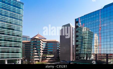 Quartier financier au centre-ville de Birmingham, West Midlands, England, UK. Une colline de neige et 9 Colmore Banque D'Images