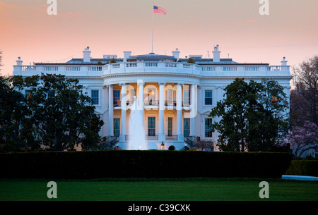 La résidence présidentielle nous au 1600 Pennsylvania Avenue, à Washington, DC Banque D'Images