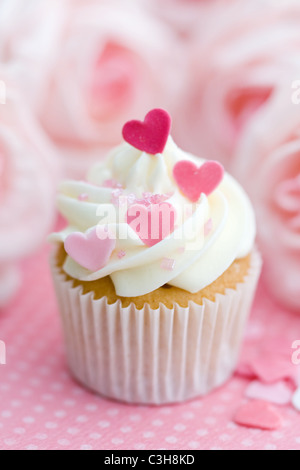 Cupake Valentine Banque D'Images