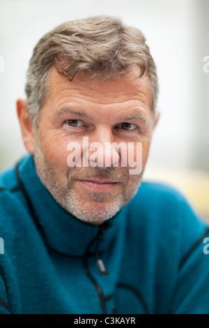 Portrait d'homme mûr, close-up