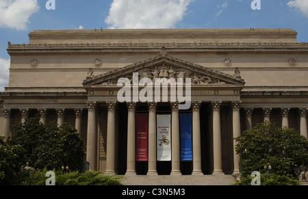 Bâtiment des Archives nationales. De l'extérieur. Washington D.C. United States.