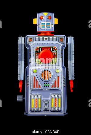 Vintage toy robot Banque D'Images