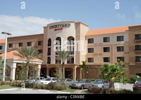 Stuart Floride Courtyard Marriott hôtel motel logement stationnement entrée avant de l'immeuble Banque D'Images