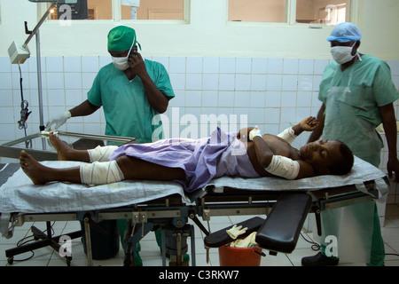 L'hôpital MSF de Betou,chirurgie,République du Congo Banque D'Images