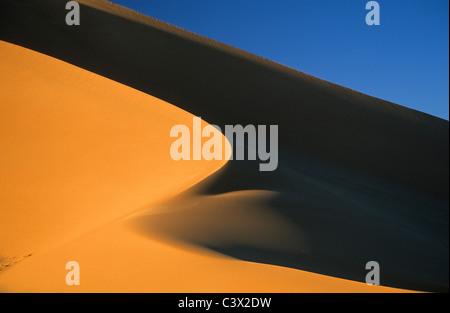 L'Algérie, Sahara Djanet, dessert, les dunes de sable. Banque D'Images