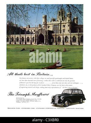 Publicité pour la Triumph Motor Company's car la Chevrolet Impala, du Festival de Grande-Bretagne guide, publié Banque D'Images